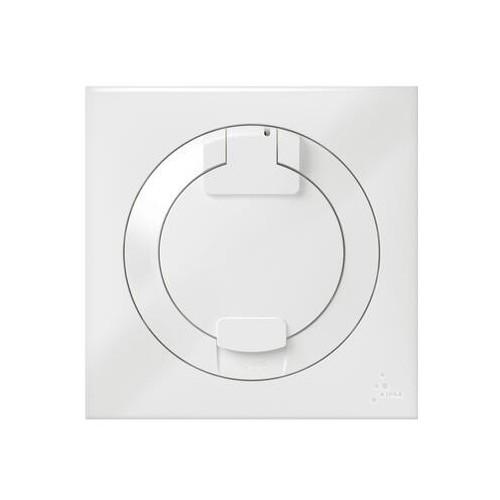 Prise de courant 2P+T à puits 16A IP44 livré avec plaque carrée blanche Legrand Dooxie Réf: 600344