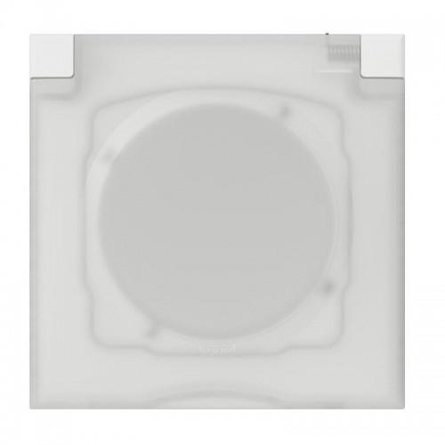 Plaque carrée 1 poste avec volet IP44 Legrand Dooxie Réf: 600944