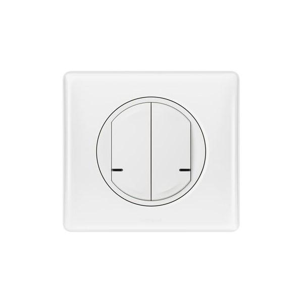 Commande double sans fil with Netatmo pour éclairage ou prise connectée ou micromodule Legrand Celiane Réf: 067724