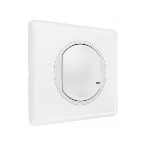 Interrupteur filaire connecté option variateur Céliane with Netatmo sans neutre 5-300W + compensateur Legrand Réf: 067721