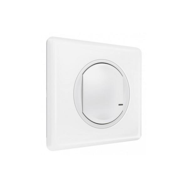 Interrupteur et variateur filaire connecté with Netatmo sans neutre 5W à 300W + compensateur Legrand Celiane Réf: 067721