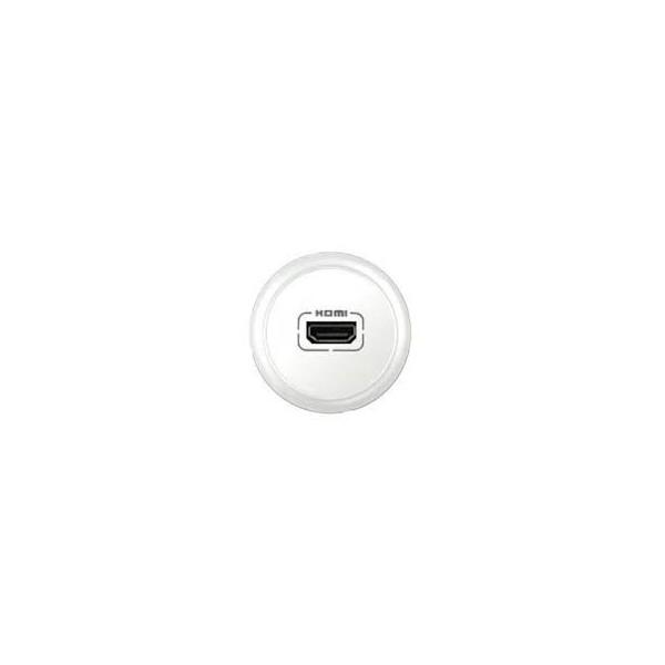 Enjoliveur prise audio et vidéo HDMI Céliane Réf: 68216
