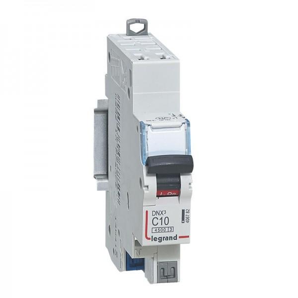 Disjoncteur Phase+ Neutre DNX3 automatique 10A Legrand Réf: 406782