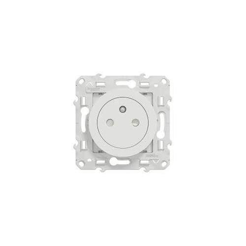 Prise de Courant 2P+T affleurante - connexion rapide - blanc Odace Schneider Réf. S520052