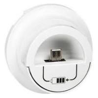 Enjoliveur Céliane - Prise double pour chargeur USB version dock - blanc Legrand Réf. 068210