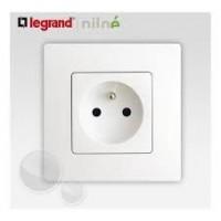 Prise de courant Niloé 2 P+T Blanc 16A Complet - Réf: 664735