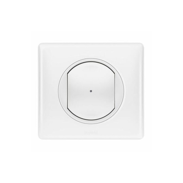Interrupteur filaire connecté option variateur installation connectée Netatmo avec neutre 150W blanc Celiane Legrand Réf: 067797