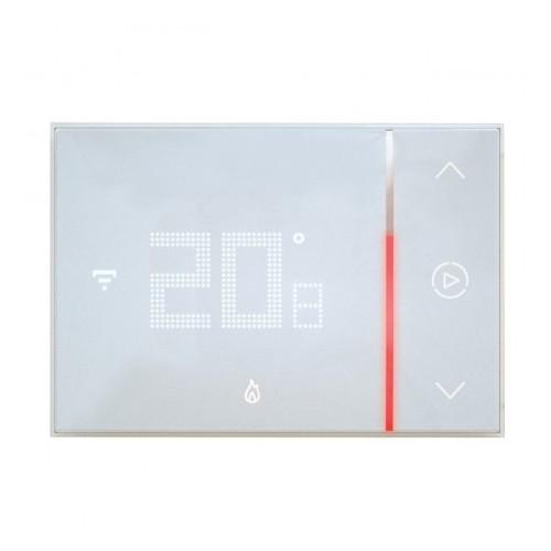 Thermostat connecté Smarther with Netatmo pour montage encastré 2 modules blanc Legrand Réf: 049038