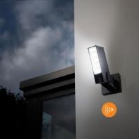 Caméra extérieure intelligente et connectée avec sirène Netatmo projecteur LED et alerte sur smartphone Legrand Réf: NOC-S-PRO