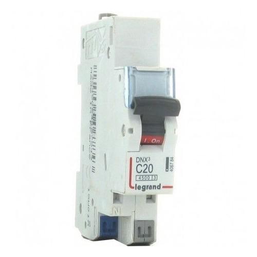 Disjoncteur borne automatique - 1P+N 230V 20A Legrand Réf. 406784