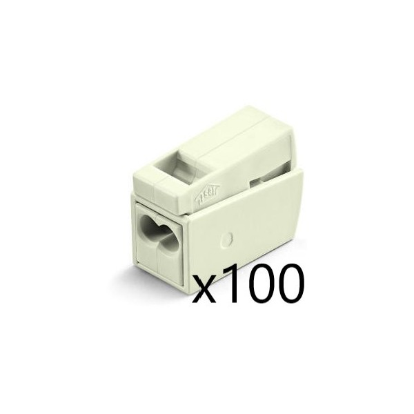 Borne pour Luminaires 2,5mm² pour 2 conducteurs (x100) WAGO - Réf. 224-112