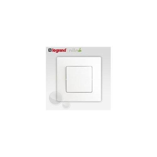 Interrupteur va-et-vient Blanc Complet Niloé Legrand - mécanisme + plaque de finition - Réf. 664701 et Réf. 665001