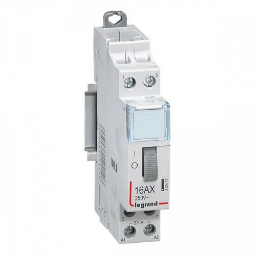 Télérupteur bipolaire CX3 standard avec bornes à vis 2P 16A 250V Legrand Réf: 412412