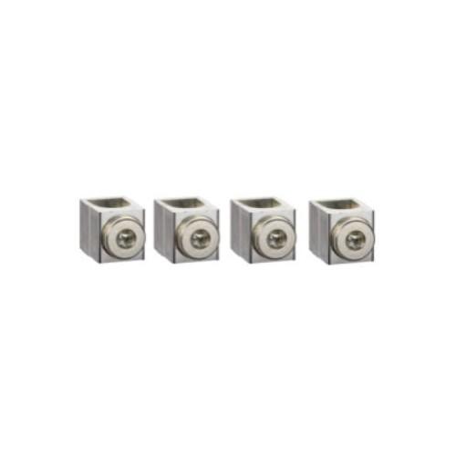 Compact NSX INS/INV - Lot de 4 bornes alu pour câbles 25 à 95mm² - Schneider Réf. LV429228