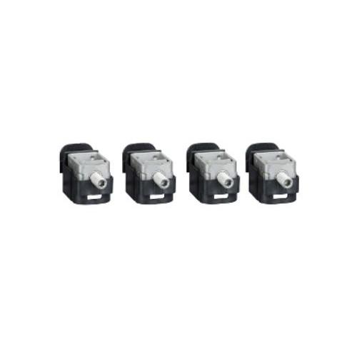 4 Bornes Acier pour câbles 1.5...95mm² pour NSX100-250 INV/INS Schneider Réf. LV429243