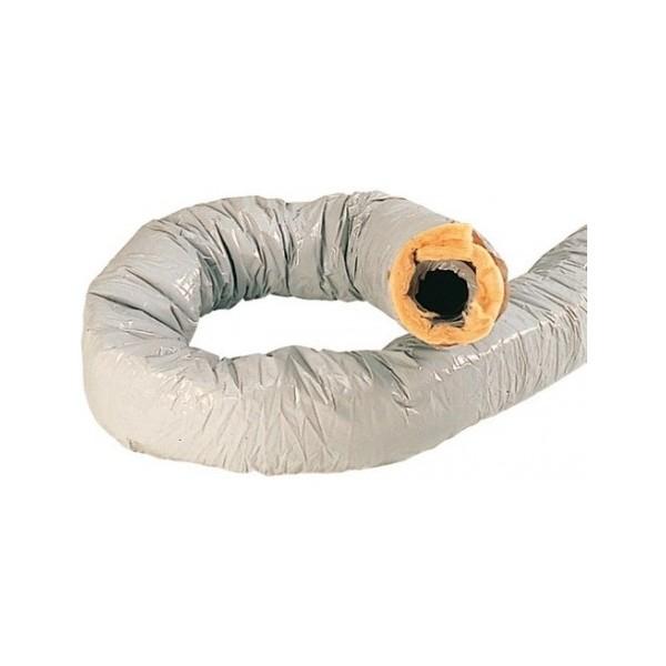 Conduit souple PVC type CR isolé et calorifugé - 10m Ø125 mm - Atlantic Réf. 423054