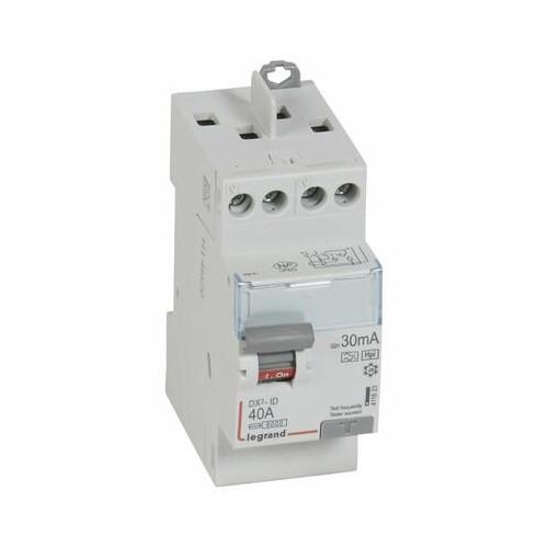 Interrupteur Différentiel DX³-ID 40A 30 mA type F - 2 modules - Vis/Vis Legrand Réf. 411623