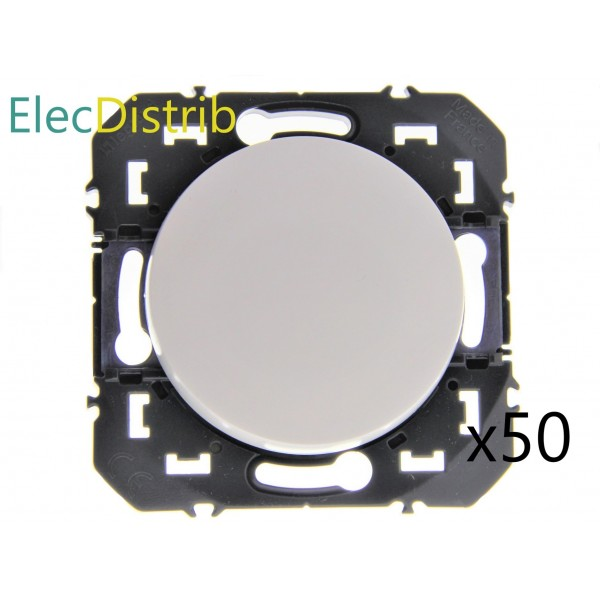 Lot de 50 Interrupteurs ou Va-et-vient 10AX 250V~ blanc Dooxie Legrand Réf. 600601
