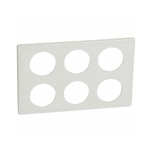 Plaque de finition Céliane 2x3 postes blanc laqué Legrand Réf. 068609