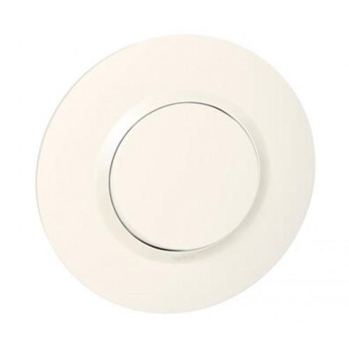 Interrupteur ou va-et-vient 10AX 250V~ livré avec plaque ronde blanche Dooxie Legrand Réf. 095050