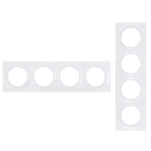 Plaque de finition 4 postes blanc Odace Styl Schneider Réf. S520708