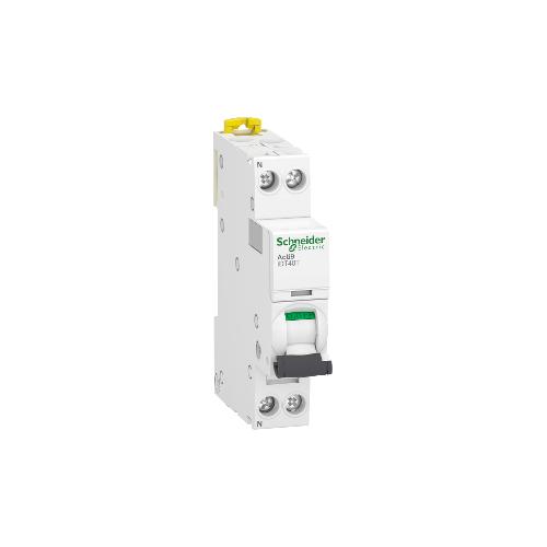 Disjoncteur Modulaire Acti9 iDT40T 25A Courbe C - 1P+N Schneider Réf. A9P22625