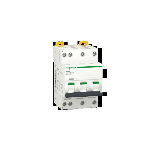 Disjoncteur Modulaire Acti9 iDt40T 20A Courbe C - 3P+N Schneider Réf. A9P22720