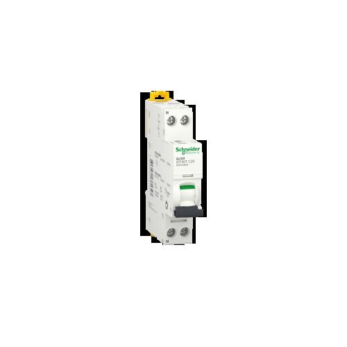 Disjoncteur Modulaire Acti9 iDT40T 20A courbe C - 1P+N Schneider Réf. A9P22620