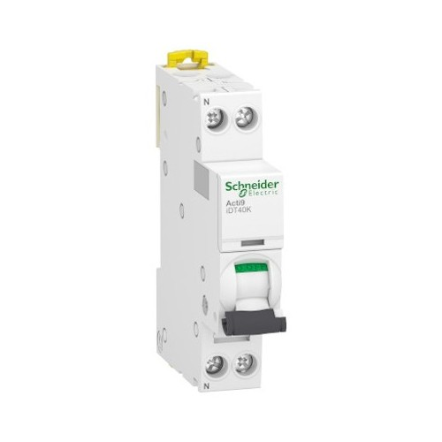 Disjoncteur Modulaire Acti9 iDT40K 6A Courbe C - 1P+N Schneider Réf. A9P71606