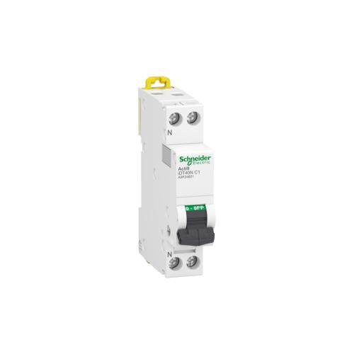 Disjoncteur Modulaire Acti9 iDT40N 1A Courbe C 6000A/10kA 1P+N Schneider Réf. A9P24601
