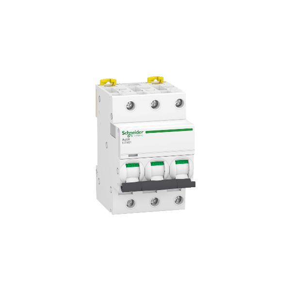 Disjoncteur Modulaire Acti9 iDT40T 10A Courbe D 3P Schneider Réf. A9P32310