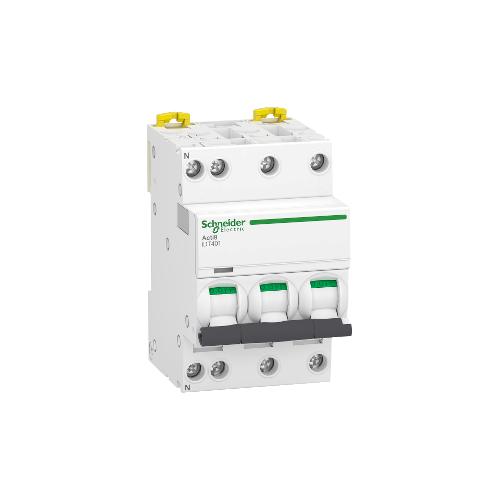 Disjoncteur Modulaire Acti9 iDT40T 6A Courbe D 3P+N Schneider Réf. A9P32706
