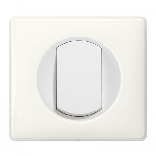 Interrupteur bouton poussoir Céliane Blanc Complet Réf: 031