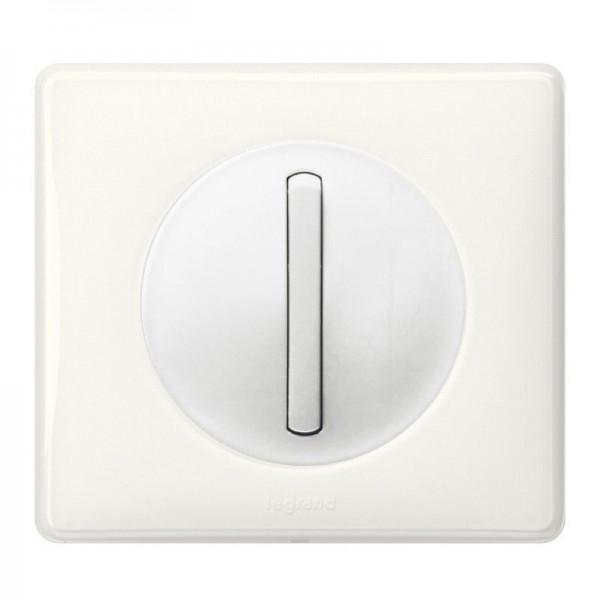 Interrupteur bouton poussoir Céliane Blanc Complet Réf: 032