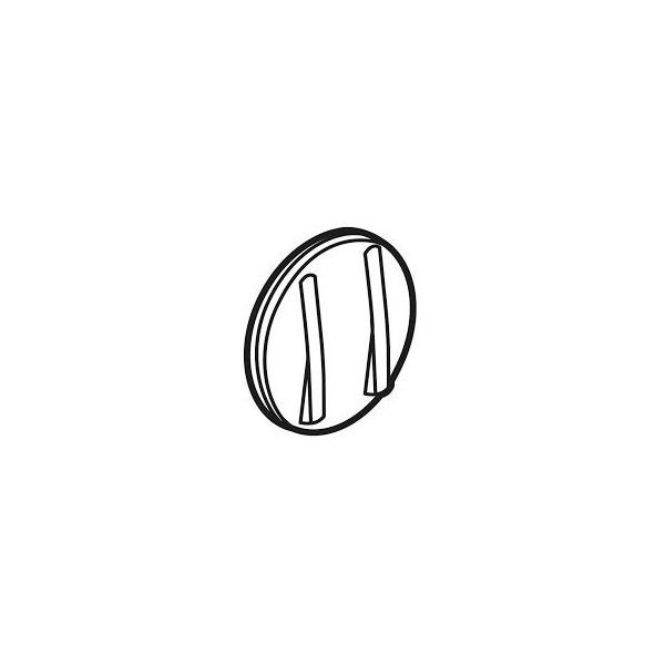 Interrupteur double bouton poussoir Céliane Blanc Complet Réf: 034