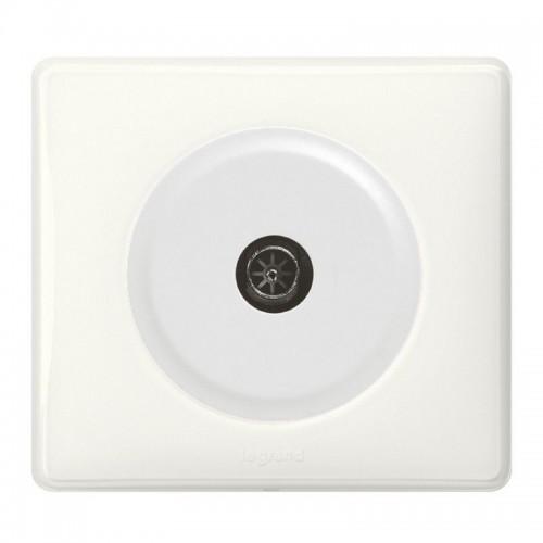 Prise TV simple blanc Céliane Complète Réf: 099563