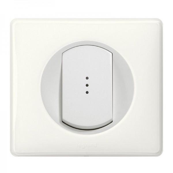 Interrupteur va et vient lumineux Céliane Blanc Complet Réf: 005