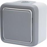 Interrupteur ou Va-et-vient étanche Plexo complet IP55 gris Legrand Réf: 069711