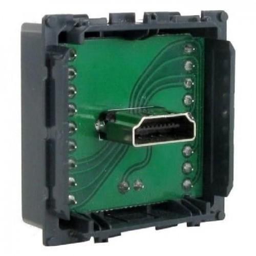 Prise audio et vidéo HDMI blanc Céliane Complet Réf: 317