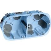 Boîte d'encastrement étanche à l'air XL Air'métic Eur'Ohm 2 postes Diam. 67 prof. 40mm Réf. 52064