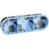 Boîte d'encastrement étanche à l'air XL Air'métic Eur'Ohm 3 postes Diam. 67 prof. 40mm Réf. 52066