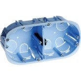 Boîte d'appareillage XL Pro Eur'Ohm cloisons sèches 2 postes diam. 67/68 mm  prof. 40mm Réf: 52044