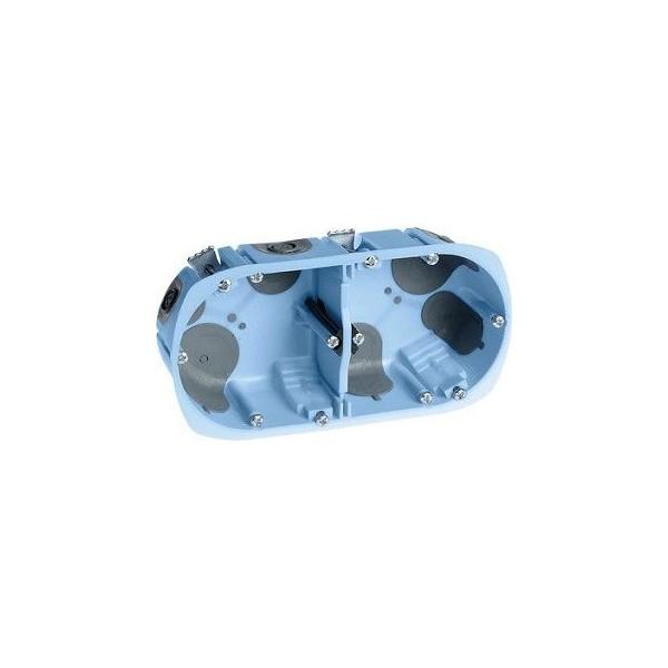 Boîte d'encastrement étanche à l'air XL Air'métic Eur'Ohm 2 postes Diam. 67 prof. 50mm Réf. 52065