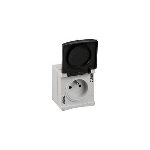 Prise 2P+T étanche gris IP55 Ouessant Réf: 60720