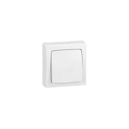 Interrupteur va et vient blanc en Saillie Otéo - Réf. 086001