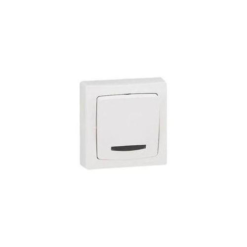 Interrupteur va et vient à voyant lumineux blanc en Saillie Otéo - Réf. 086017