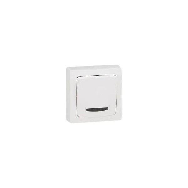 Interrupteur va et vient Lumineux blanc en Saillie Otéo - Réf. 086017