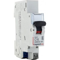 Disjoncteur Phase+Neutre DNX3 4500 6kA arrivée et sortie borne automatique - 1P+N 230V 16A Courbe C Legrand Réf: 406783