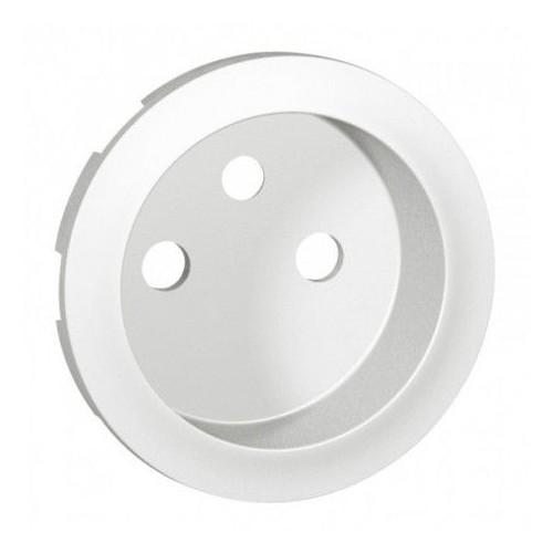 Enjoliveur pour prise de courant 2P+T à puits classique Blanc Céliane Legrand Réf: 068112