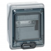 Coffret Plexo étanche 6 modules IP65 IK09 gris Legrand Ref: 001906